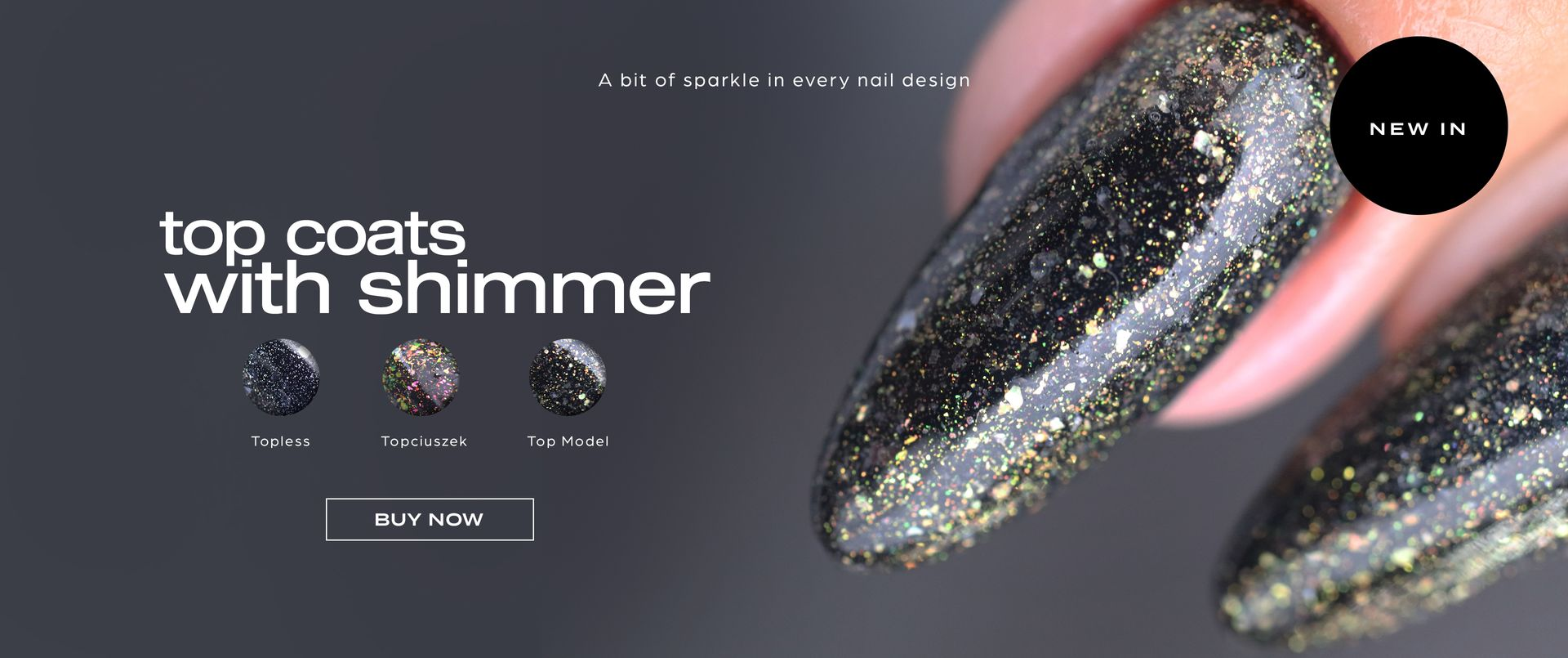 Top Coats with Shimmer.  A bit od sparkle in every nail design